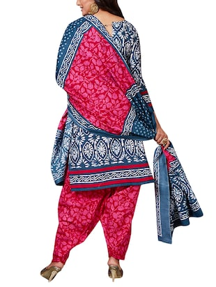 multi colored unstitched combo suit - 15344815 - Standard Image - 3