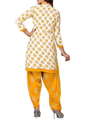 multi colored unstitched combo suit - 15344886 - Standard Image - 3