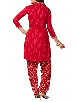 multi colored unstitched combo suit - 15344909 - Standard Image - 3