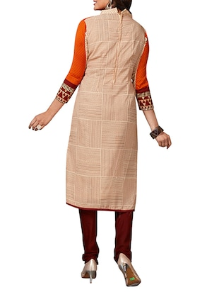 multi colored unstitched combo suit - 15344938 - Standard Image - 3