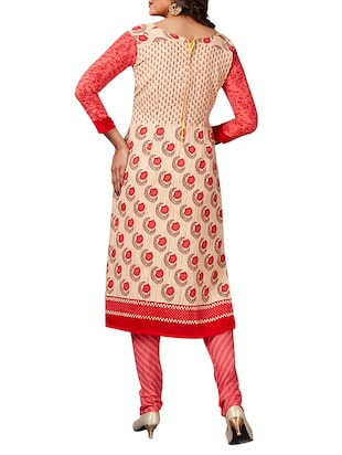 multi colored unstitched combo suit - 15345005 - Standard Image - 3