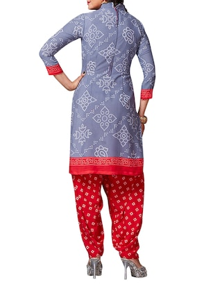 multi colored unstitched combo suit - 15345048 - Standard Image - 3