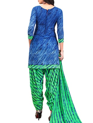 multi colored unstitched combo suit - 15345052 - Standard Image - 3