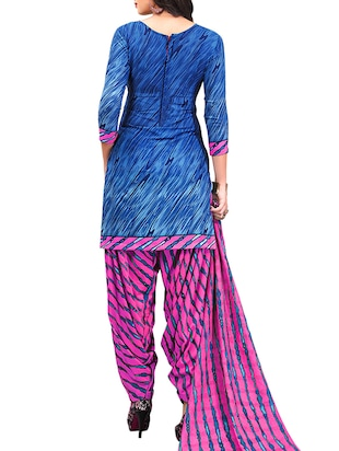 multi colored unstitched combo suit - 15345061 - Standard Image - 3