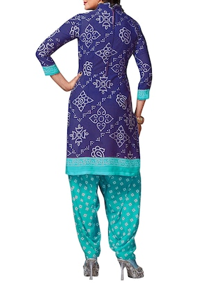multi colored unstitched combo suit - 15345070 - Standard Image - 3