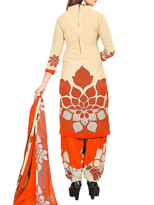 multi colored unstitched combo suit - 15345106 - Standard Image - 3