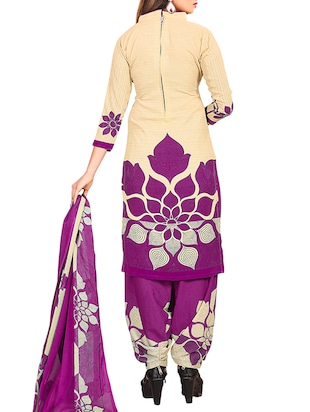 multi colored unstitched combo suit - 15345113 - Standard Image - 3