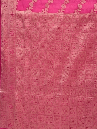 Zari Work Banarasi Saree with blouse - 15345778 - Standard Image - 3