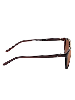 David Blake Brown Round Polarised & UV Protected Sunglass - 15347418 - Standard Image - 3