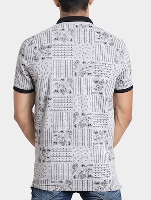 grey cotton all over print t-shirt - 15348150 - Standard Image - 3