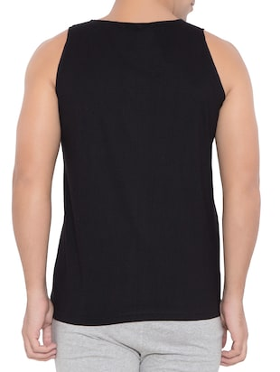 black cotton vest - 15348430 - Standard Image - 3