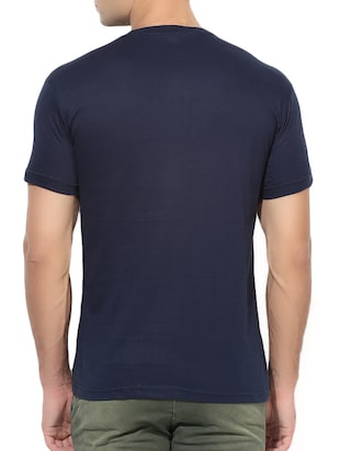 navy blue cotton t-shirt - 15364034 - Standard Image - 3