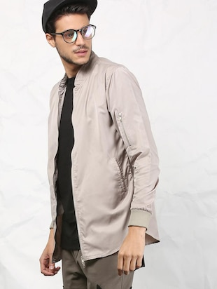 beige polyester casual jacket - 15379744 - Standard Image - 3