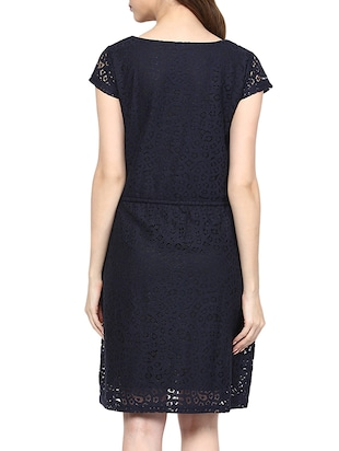 lace draw string waist dress - 15400246 - Standard Image - 3