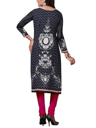 Printed unstitched combo suit - 15400929 - Standard Image - 3