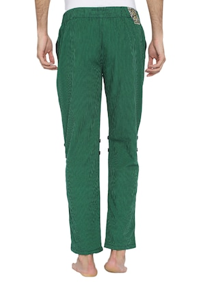 green cotton pyjama - 15402551 - Standard Image - 3