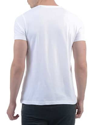 white cotton blend t-shirt - 15406590 - Standard Image - 3