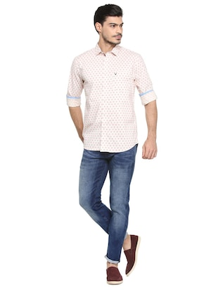 pink cotton blend casual shirt - 15410576 - Standard Image - 3