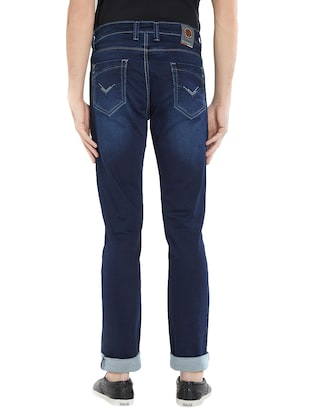blue cotton washed jeans - 15412038 - Standard Image - 3
