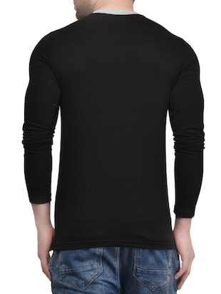 black cotton t-shirt - 15412595 - Standard Image - 3