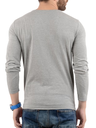 grey cotton t-shirt - 15412604 - Standard Image - 3