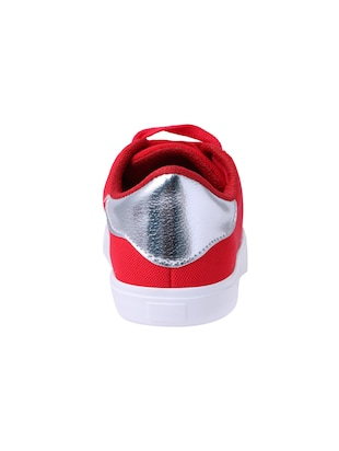 red lace-up sneakers - 15413089 - Standard Image - 3