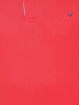 red cotton blend polo t-shirt - 15413146 - Standard Image - 3