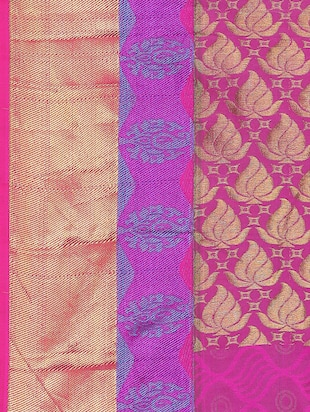 golden zari butta woven saree with blouse - 15414054 - Standard Image - 3