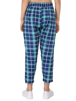 Checkered high-rise trouser - 15414329 - Standard Image - 3