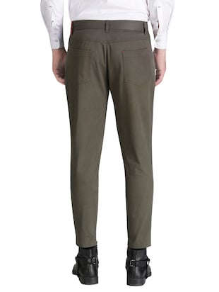 green cotton chinos casual trousers - 15414568 - Standard Image - 3