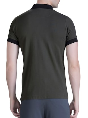 green cotton polo t-shirt - 15414601 - Standard Image - 3