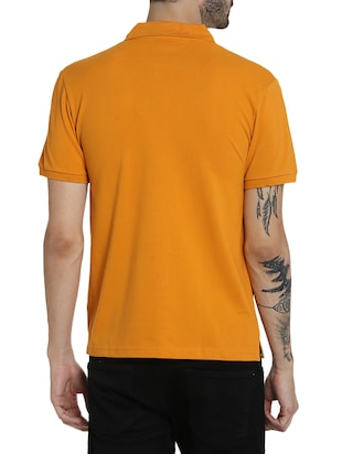orange cotton polo t-shirt - 15414717 - Standard Image - 3