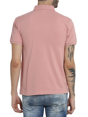pink cotton pocket  t-shirt - 15414725 - Standard Image - 3