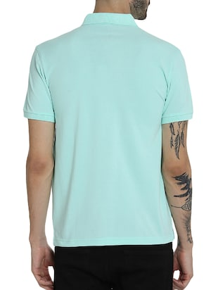 light blue cotton pocket  t-shirt - 15414726 - Standard Image - 3