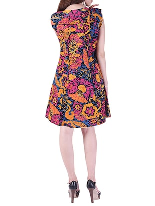 printed a-line dress - 15414982 - Standard Image - 3