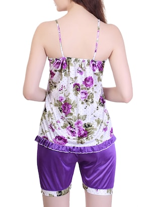 floral nightwear shorts set - 15416605 - Standard Image - 3