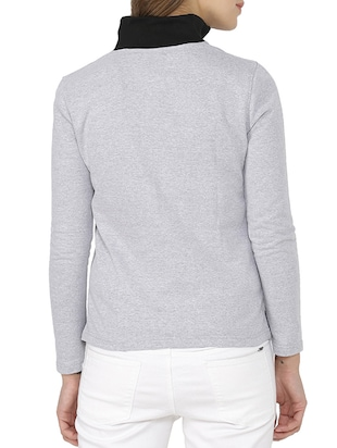 color blocked zip up sweatshirt - 15416633 - Standard Image - 3