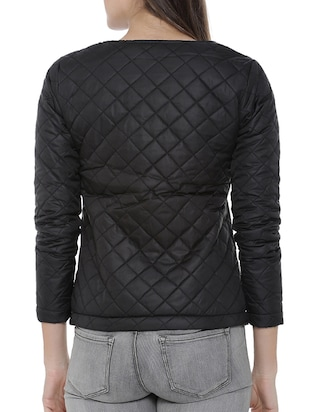 lapel neck quilted & padded jacket - 15416681 - Standard Image - 3