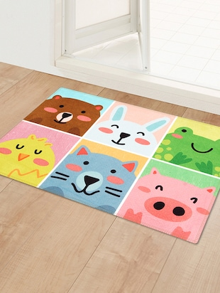 1 Pc Velvet finish Anti skid Doormat - 15417176 - Standard Image - 3