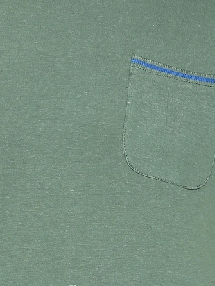 green cotton pocket t-shirt - 15417218 - Standard Image - 3