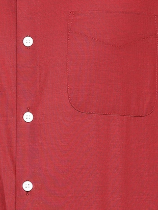 red cotton formal shirt - 15417416 - Standard Image - 3