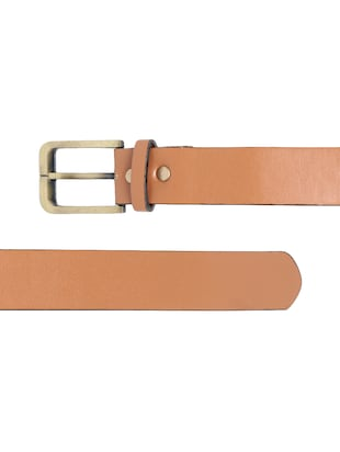 brown synthetic leather) belt - 15417961 - Standard Image - 3