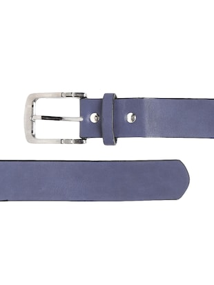 blue synthetic leather) belt - 15417966 - Standard Image - 3