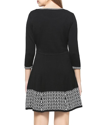a-line geometric knitted dress - 15418264 - Standard Image - 3