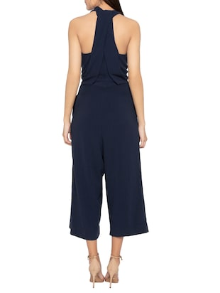 Halter neck 3/4th jumpsuit - 15419152 - Standard Image - 3