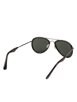 Arzonai Aviator Gunmetal-Green UV Protection Sunglasses [MA-314-S1 ] - 15420458 - Standard Image - 3