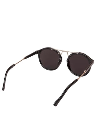 Arzonai Round Black-Blue Mirrored UV Protection Sunglasses [MA-395-S3 ] - 15420478 - Standard Image - 3