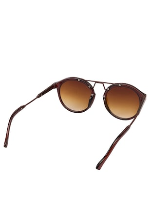 Arzonai Round Brown-Brown UV Protection Sunglasses [MA-397-S3 ] - 15420488 - Standard Image - 3
