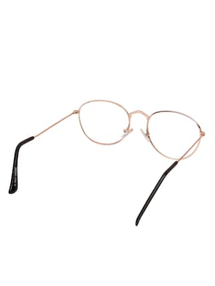 Arzonai Oval Golden-Transparent UV Protection Eyeglasses [MA-312-S2 ] - 15420519 - Standard Image - 3
