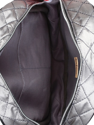 silver satin fashion backpack - 15421037 - Standard Image - 3